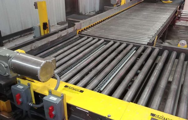 Chain Driven Live Roller Pallet Conveyor 2