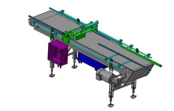 Conveyor Assembly 2-1 Sanitary SST Tray Merge