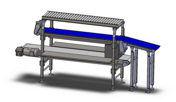 3 Tier Packout Station - Design Build - Conveyor Assembly