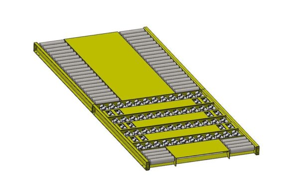 Conveyor Assembly Omni Roller Gravity Bed