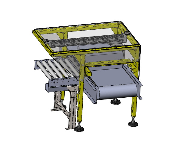 Stainless Steel Pusher Conveyor Assembly - Design Build